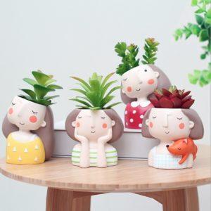 Macetas originales para cactus chicas soñadoras - Decoplantia